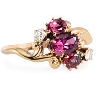 Edwardian Garnet Diamond Ring