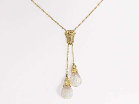 Edwardian Floating Opal Négligée Necklace
