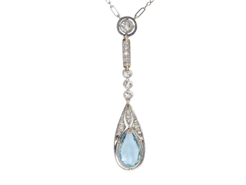 Fineness Personified: Aquamarine Diamond Necklace