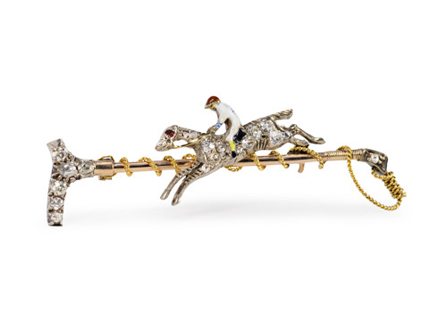 Leap of Faith: Victorian Equestrian Brooch