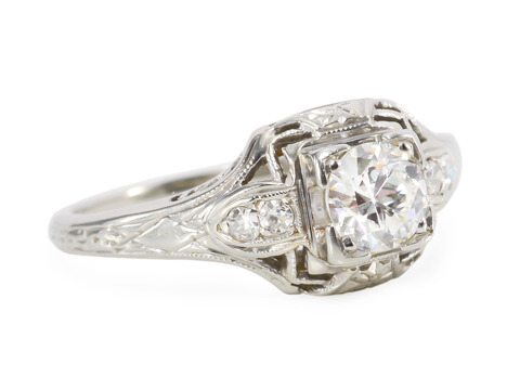 Double Glance: Art Deco Diamond Ring