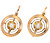 Golden Circles: Antique French Diamond Earrings