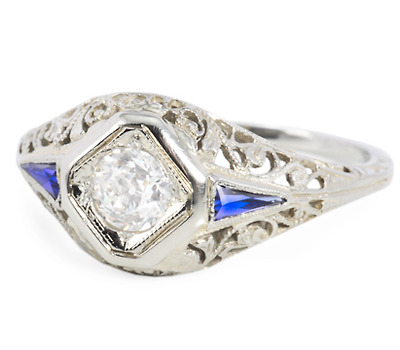 20th C. Marvel: Art Deco Diamond Ring