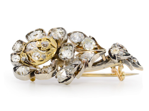 Victorian Halley's Comet Diamond Brooch