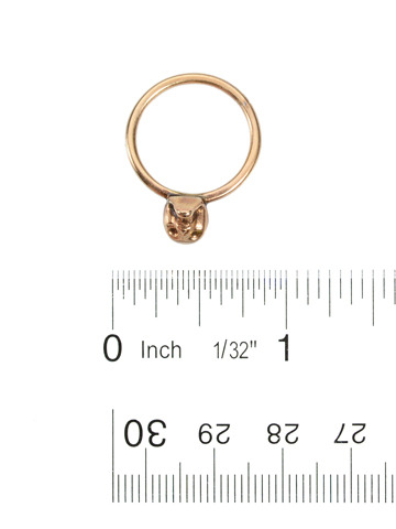 Antique Memento Mori Skull Ring
