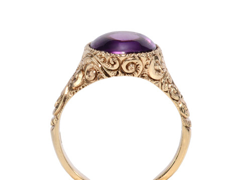 Fabulous Antique Amethyst Set Ring