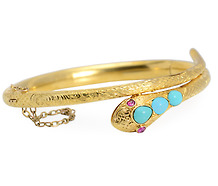 Passion Expressed: Turquoise Snake Bracelet