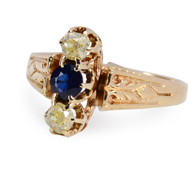 Colorific Victorian Champagne Diamond Ring