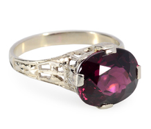 Rakish Art Deco Garnet Ring