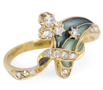 Sensuality Unfolded: Diamond Foliate Ring
