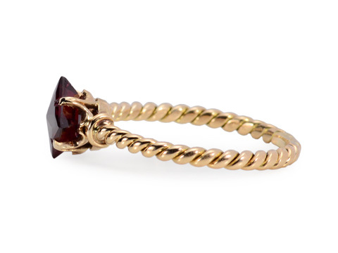 Fancy Cut Garnet Vintage Ring