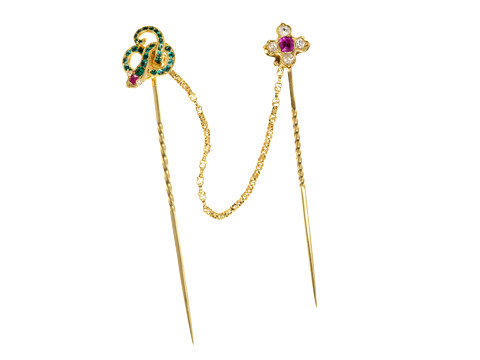 The Serpent & The Flower - Amazing Stickpins