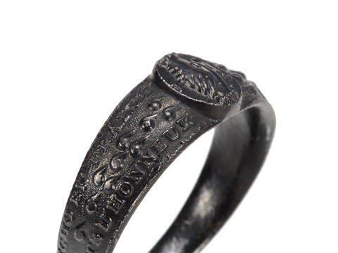 Symbolic Antique Berlin Iron Ring for a Man