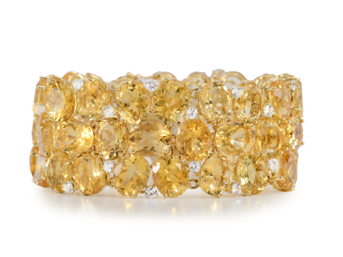 Exclamation! Citrine & Topaz Bracelet