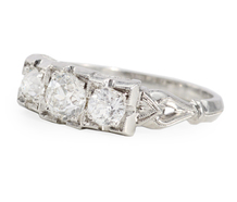 Lambert Bros. Edwardian Three Stone Diamond Ring