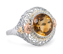 Hollywood & Fine: Vintage Citrine Pearl Ring