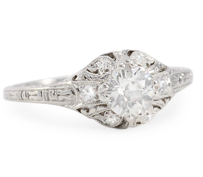 Most Feminine: Vintage Diamond Platinum Ring