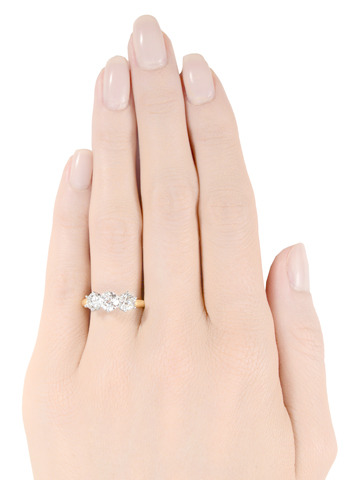 Wow! Art Deco Three Diamond Ring