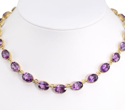 Amethyst Rivière Necklace of Over 95 carats!