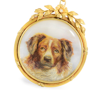 Fabulous Double Sided Dog Miniature Pendant