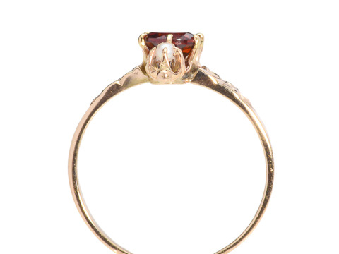 A Hint of Fancy: Victorian Garnet Pearl Ring