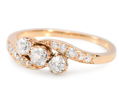 Dazzling Antique Diamond Set Ring