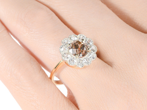 Colored Diamond Halo Ring - 2.35 ct