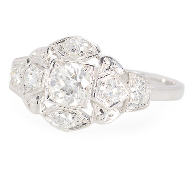 Romance & Glam Paired - Vintage Diamond Ring