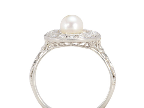 Chic Personified - Pearl Diamond Ring