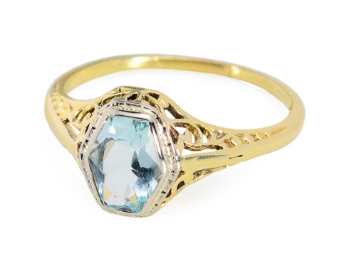 Vintage Presence in Aquamarine Ring