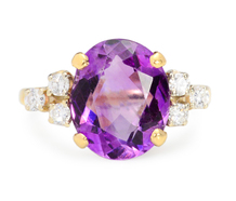 Grapes & Ice: Amethyst Diamond Ring
