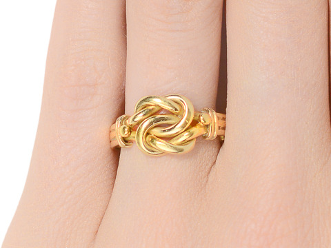 Dated 1904 English Love Knot Ring