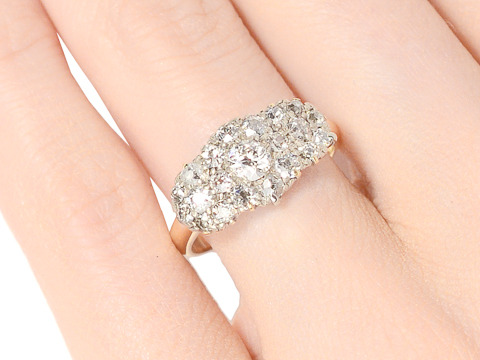 Diamond Stepping Stones Antique Ring