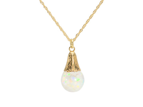Suspense - Floating Opal Pendant