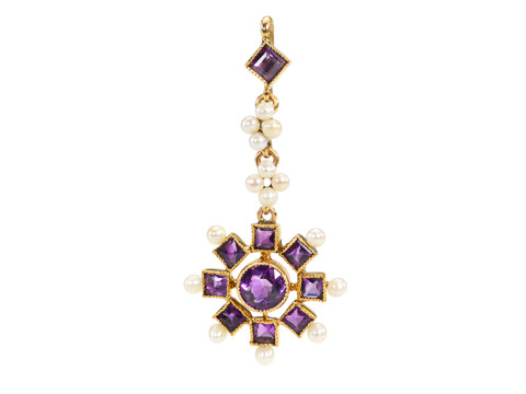 Who Can Resist: Vintage Amethyst Pendant