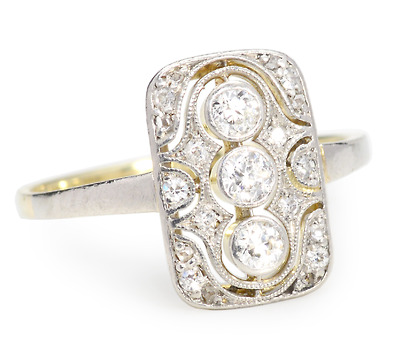 Aflame - Art Deco Diamond Ring