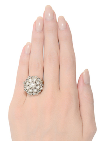 Fantastisch! Rose Cut Diamond Cluster Ring