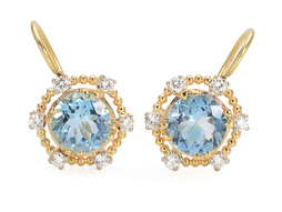 Aquamarine Sonata Diamond Earrings