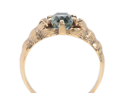 Teal Tranquil - Rose Gold Claw Ring