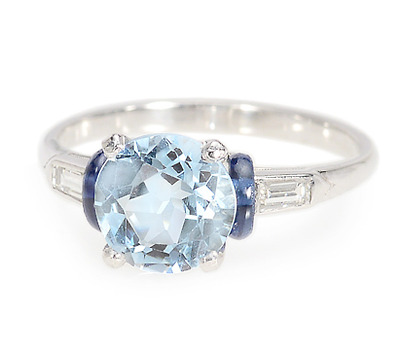 Of the Sea: Aquamarine Sapphire Ring