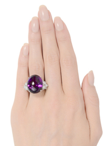 Magnificent Wunderkind - Amethyst Diamond Ring