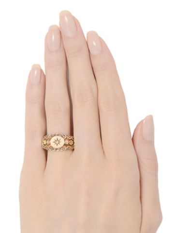 Unusual Victorian Two Color Gold Ring