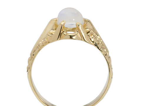 Believe: Antique Moonstone Crystal Ball Ring