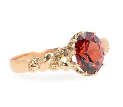 Enticing Antique Oval Garnet Ring