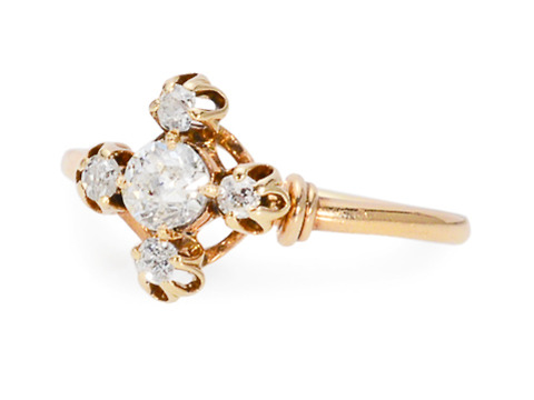 Stars in the Sky -  Antique Diamond Ring