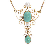 Elements of Style: Antique Turquoise Necklace