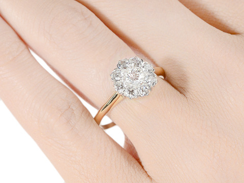 Say the Word - Diamond Cluster Ring