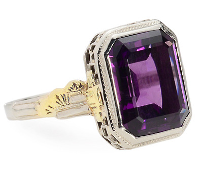 Depth of Color: Vintage Amethyst Ring