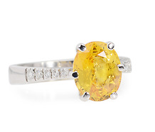 Sunburst Chic: Yellow Sapphire Diamond Ring