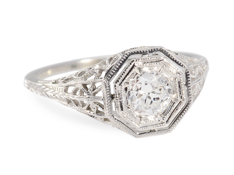Fineness Personified: Solitaire Diamond Ring